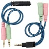 CABLE AUDIO ADAPTADOR HEMBRA 3PINS 2xKMACHO STEREO
